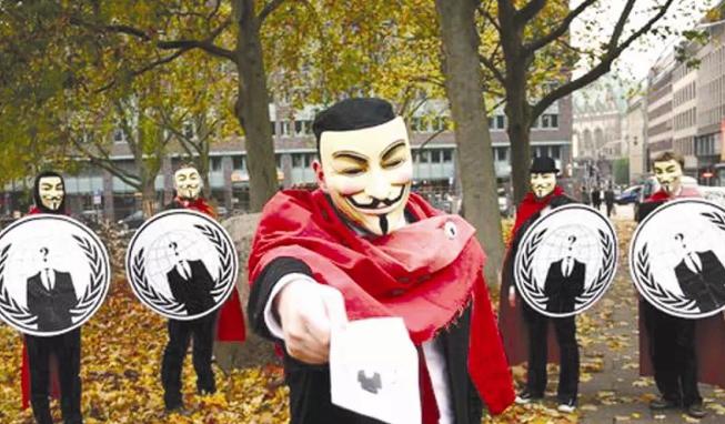 """黑客组织""""匿名者""""攻陷IS网站"""