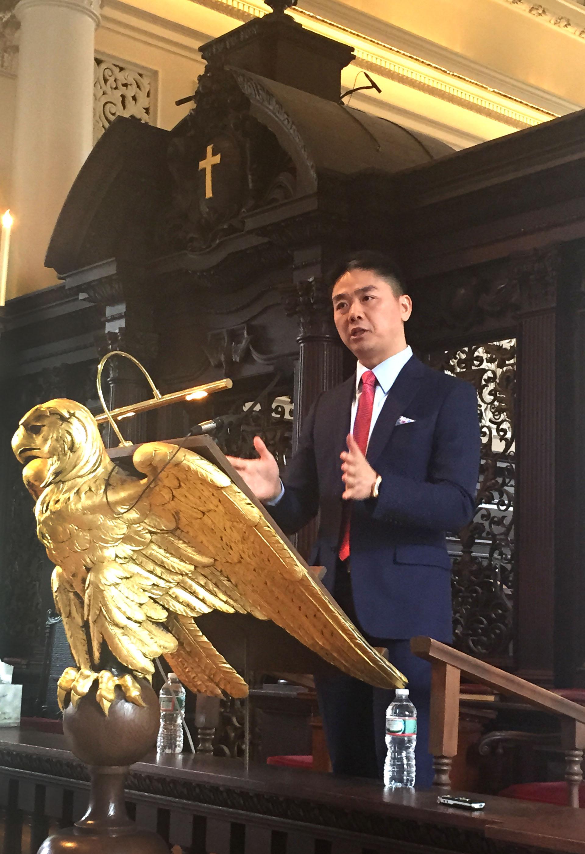 刘强东哈佛演讲:我是怎么追到女朋友的