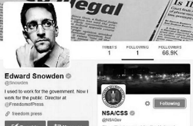 斯诺登开推特粉丝超70万 仅关注美国家安全局