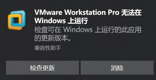 """VMware Workstation Pro 无法在Windows上运行""临时解决办法"