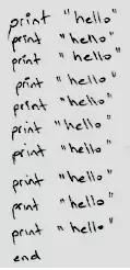 把 hello 打印 10 次,你会怎么做?